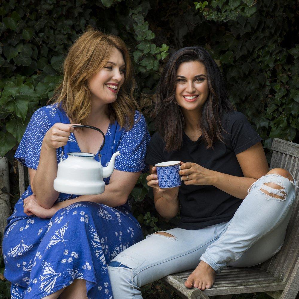 Clare Bowditch and Jamila Rizvi