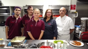 Christine Smith with members of the Rowville Community Kitchen